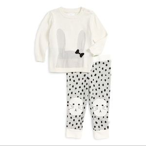 NWT Rosie Pope Bunny Sweater & Pants Set